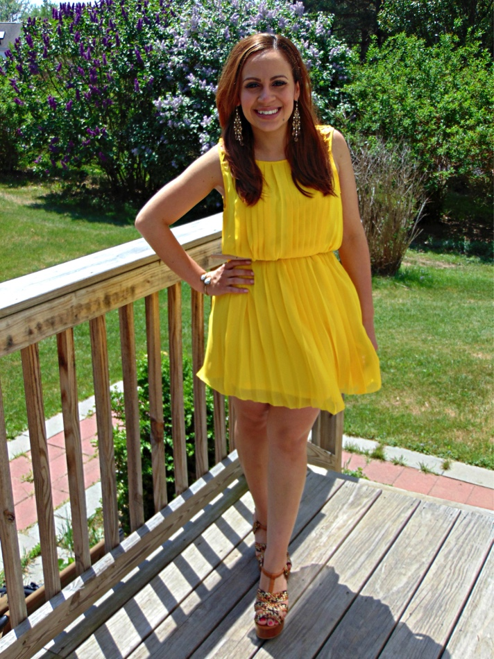 Melissa Mom with Style summer yellow dress