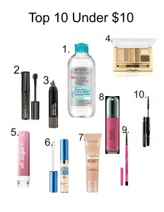 under $10 drugstore makeup