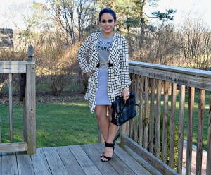 Belted Cardigan + Pencil Skirt