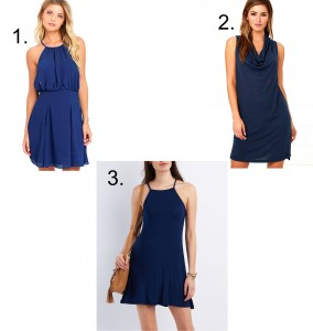 Melissa Mom with Style navy blue short dress options