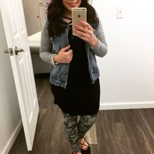 Melissa Mom with Style wear print Bella V Mobile Boutique leggings