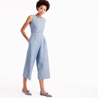 Melissa Mom with Style petite J.Crew chambray jumpsuit