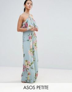 Melissa Mom with Style petite Asos blue floral jumpsuit