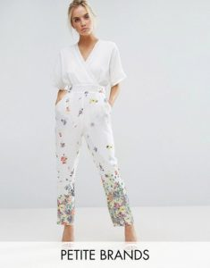 Melissa Mom with Style petite Asos white floral jumpsuit