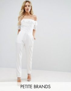 Melissa Mom with Style petite Asos white jumpsuit