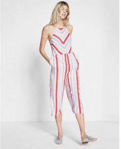 Melissa Mom with Style petite Express stripe jumpsuit