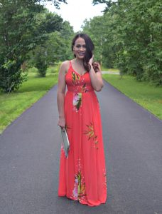 Melissa Mom with Style Bella V Mobile Boutique floral maxi dress