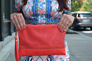 Melissa Mom with Style Bella V Mobile Boutique coral crossbody bag