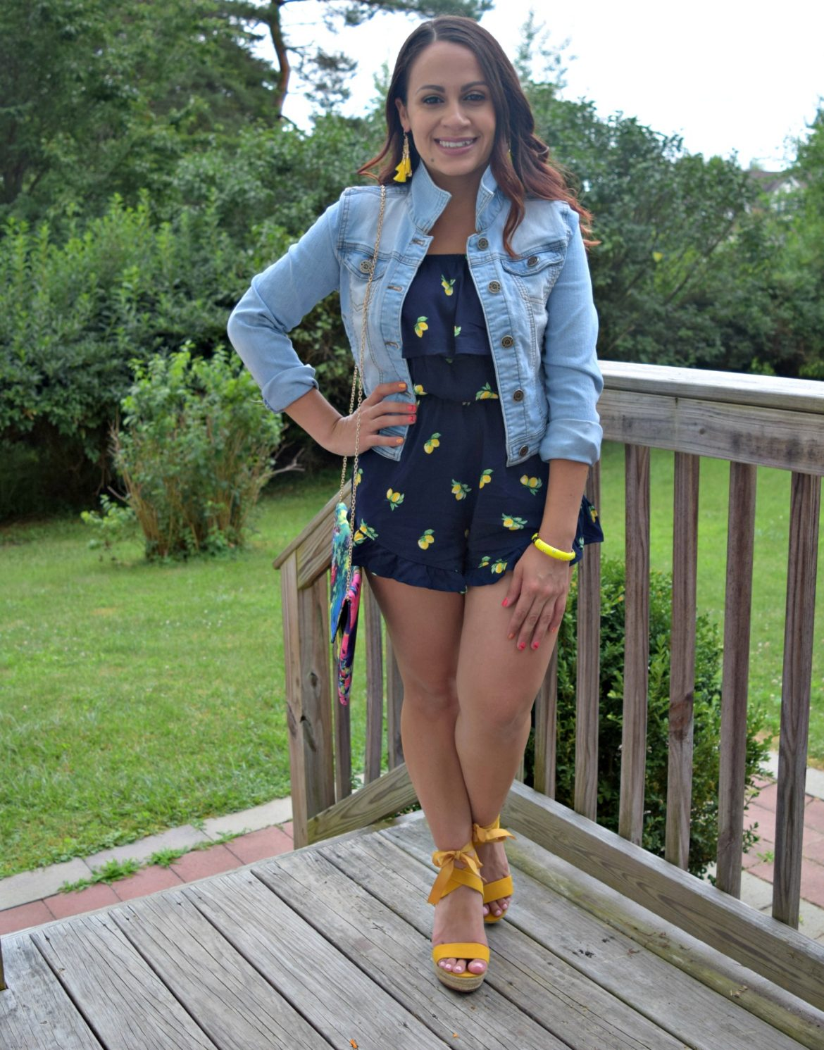 Melissa Mom with Style lemon romper