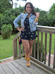 Melissa Mom with Style mixing summer prints; lemons and floral