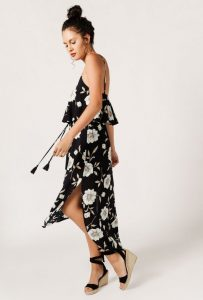 Melissa Mom with Style Azalea dark floral maxi dress