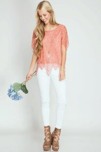 Melissa Mom with Style Bella V Mobile Boutique end of season sale lace top $31