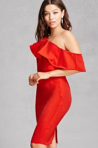 Melissa Mom with Style fall wishlist Forever 21 red dress