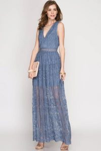 Melissa Mom with Style dusty blue Bella V Mobile Boutique maxi