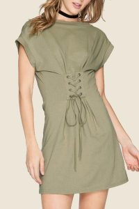 Melissa Mom with Style fall wishlist Bella V Mobile Boutique croset olive dress