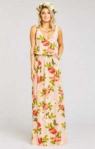 Melissa Mom with Style MuMu floral maxi dress for fall