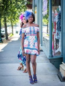 Melissa Mom with Style summer ruffle print dress from Bella V Mobile Boutique $49
