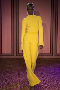 Melissa Mom with Style Brandon Maxwell spring line bright yellow