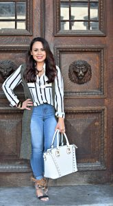 Melissa Mom with Style essential stripe top for fall wardrobe