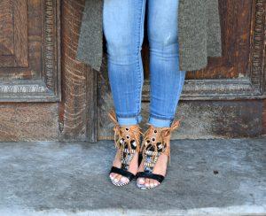Melissa Mom with Style Sam Edelman zebra print fringe heels