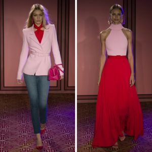 Melissa Mom with Style Brandon Maxwell Spring Line Favs: Red and Pink