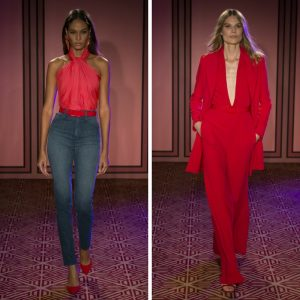 Melissa Mom with Style Brandon Maxwell spring line: Bold Red