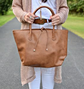 Melissa Mom with Style Target brown purse