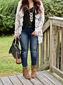 Melissa Mom with Style Easy Fall Look Essentials jacket, cami, jeans, and booties