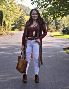 Melissa Mom with Style bohemian look for fall