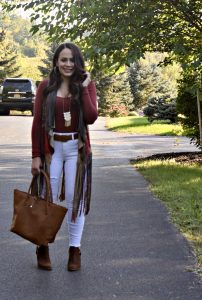 Melissa Mom with Style loving a bohemian look for fall