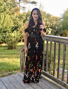 Melissa Mom with Style loving her Target fall floral maxi dress
