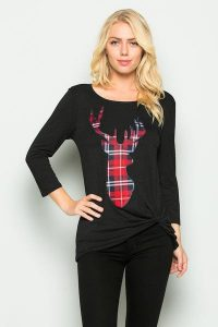 Melissa Mom with Style Black Friday Wish List: Bella V Boutique Deer Head Knot Top