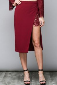 Melissa Mom with Style Black Friday Wish List: Bella V Boutique Lace Midi Pencil Skirt