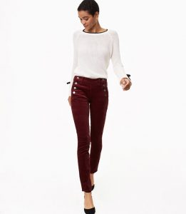 Melissa Mom with Style Black Friday Wish List: Loft Velvet Sailor Pants