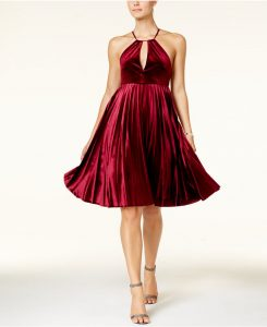 Melissa Mom with Style Thanksgiving Dresses: Velvet Fit and Flare Dress