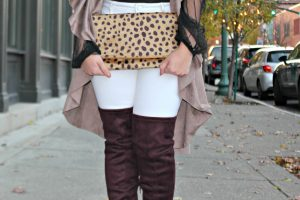Melissa Mom with Style Gray Monroe cheetah print clutch