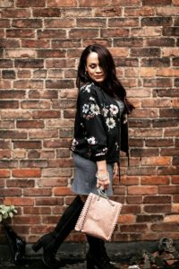 Melissa Mom with Style loving her rose gold Zara handbag