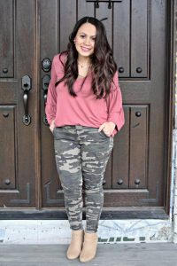 Melissa Mom with Style How to Glam Up Camo Pants