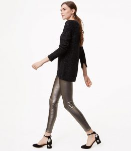 Melissa Mom with Style Black Friday Wish List: Loft Metallic Leggings