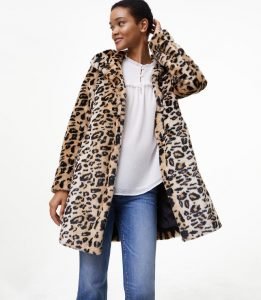 Melissa Mom with Style Black Friday Wish List: Loft Animal Print Coat