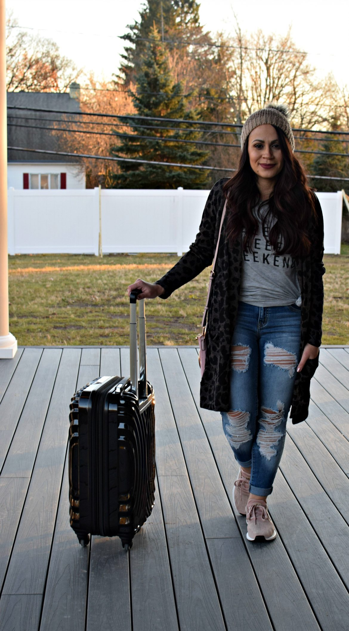 Melissa Mom with Style easy, comfy travel look