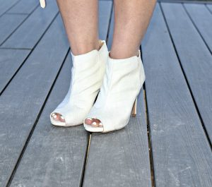 Melissa Mom with Style Charlotte Russe white peep toe booties