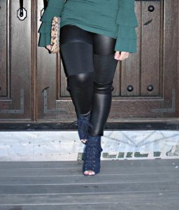 Melissa Mom with Style lace up navy JustFab booties
