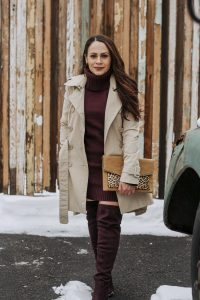 Melissa Mom with Style How to Style Your Sweater Dresses This Winter monochromatic look