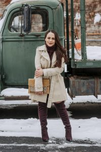 Melissa Mom with Style How to Style Your Sweater Dresses This Winter adding a trench coat