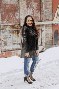 Melissa Mom with Style How to Style Your Sweater Dresses This Winter add a jacket