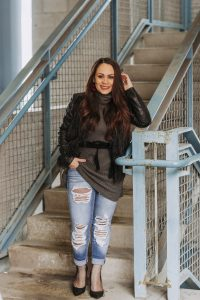 Melissa Mom with Style How to Style Your Sweater Dresses This Winter styling your dress with jeans