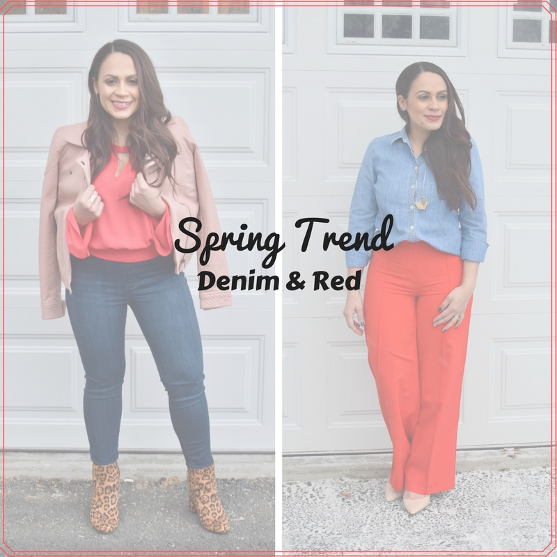 Melissa Mom with Style Spring Trend Denim and Red