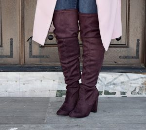 Melissa Mom with Style Target over the knee plum boots
