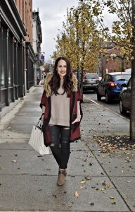 Melissa Mom with Style My Winter Minimalist Look with a basic taupe sweater